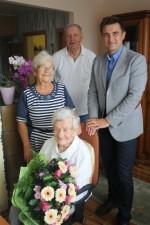 Szanowna Jubilatka z Brynka obchodziła 105 urodziny