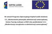 Wzmocnienie potencjału administracji samorządowej oraz modernizacja zarządzania w administracji samorządowej