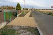 Budowa chodnika wraz z przebudowa zjazdów w pasie drogowym ulicy Bolesława Chrobrego w Hanusku