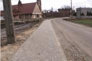 Budowa chodnika przy ul. Szkolnej w Boruszowicach.