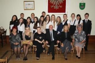 Uhonorowanie najlepszych gimnazjalistów roku szkolnego 2012/2013