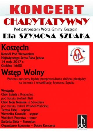 Koncert charytatywny dla Szymona Szpaka