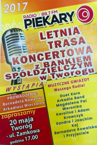 Letnia Trasa Koncertowa z Bankiem Spółdzielczym w Tworogu