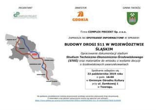 Spotkanie informacyjne w sprawie planowanego przebiegu drogi S11