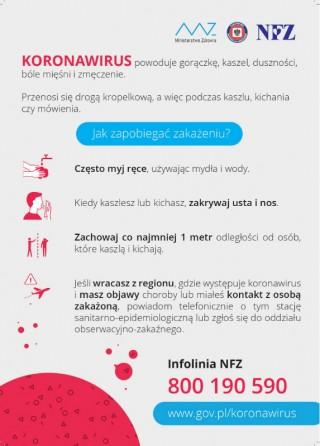 Koronawirus - wytyczne dla mieszkańców