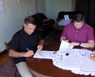 Podpisanie umowy na budowę kanalizacji w Nowej Wsi Tworoskiej