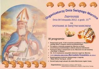 Zapraszamy na Dzień Św. Marcina