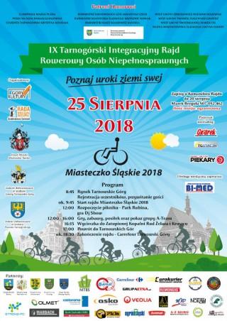 IX Tarnogórski Integracyjny Rajd Rowerowy Osób Niepełnosprawnych