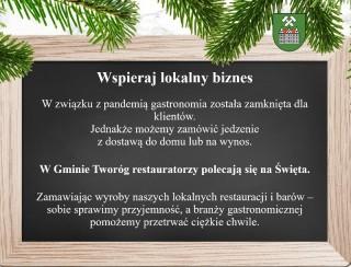 Wspieraj lokalny biznes - zamów jedzenie na Święta