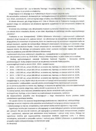 Sygnalizacja DK11-pismo