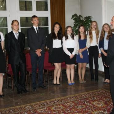 Wyróżnieni absolwenci gimnazjum -galeria