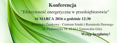 Konferencja - efektywność energetyczna