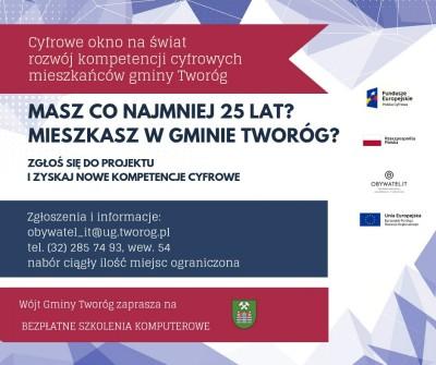 Cyfrowe okno na świat - rozwój kompetencji cyfrowych mieszkańców gminy Tworóg