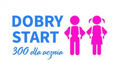 """Program rządowy """"Dobry start"""" - 300 dla ucznia"""