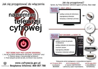 Cyfryzacja telewizji w naszym regionie
