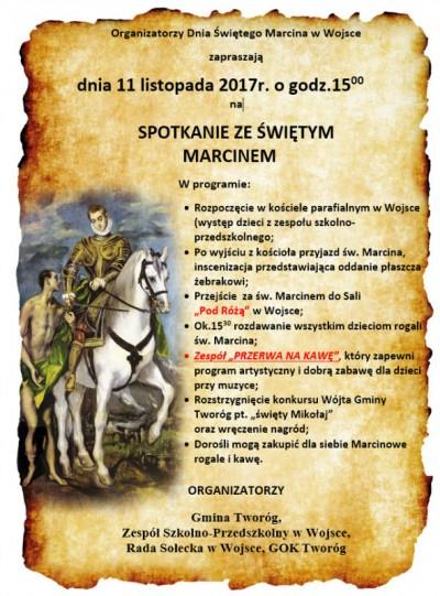 Spotkanie ze św. Marcinen w Wojsce