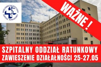 Zawieszenie Szpitalnego Oddziału Ratunkowego